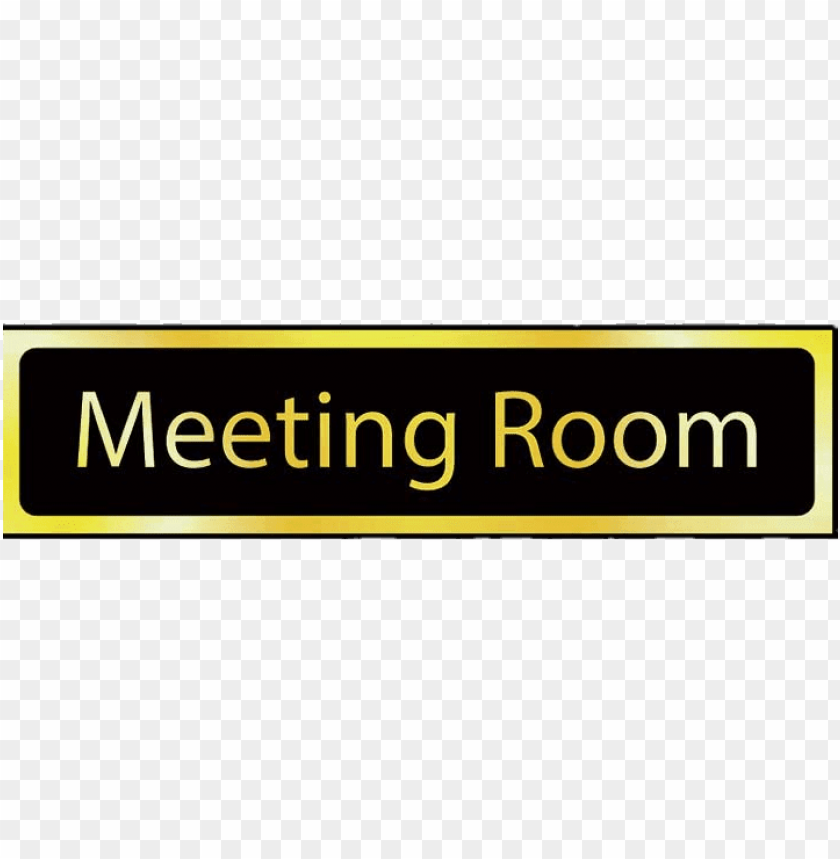 free PNG meeting room golden sign PNG image with transparent background PNG images transparent