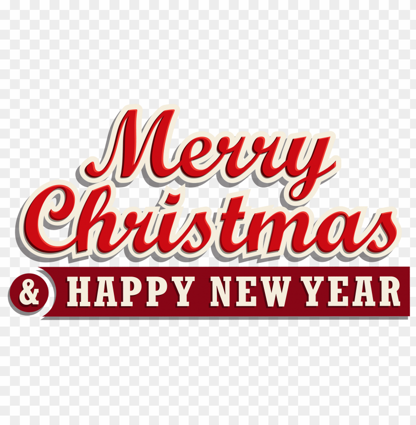 free png merry christmas and happy new year png images transparent
