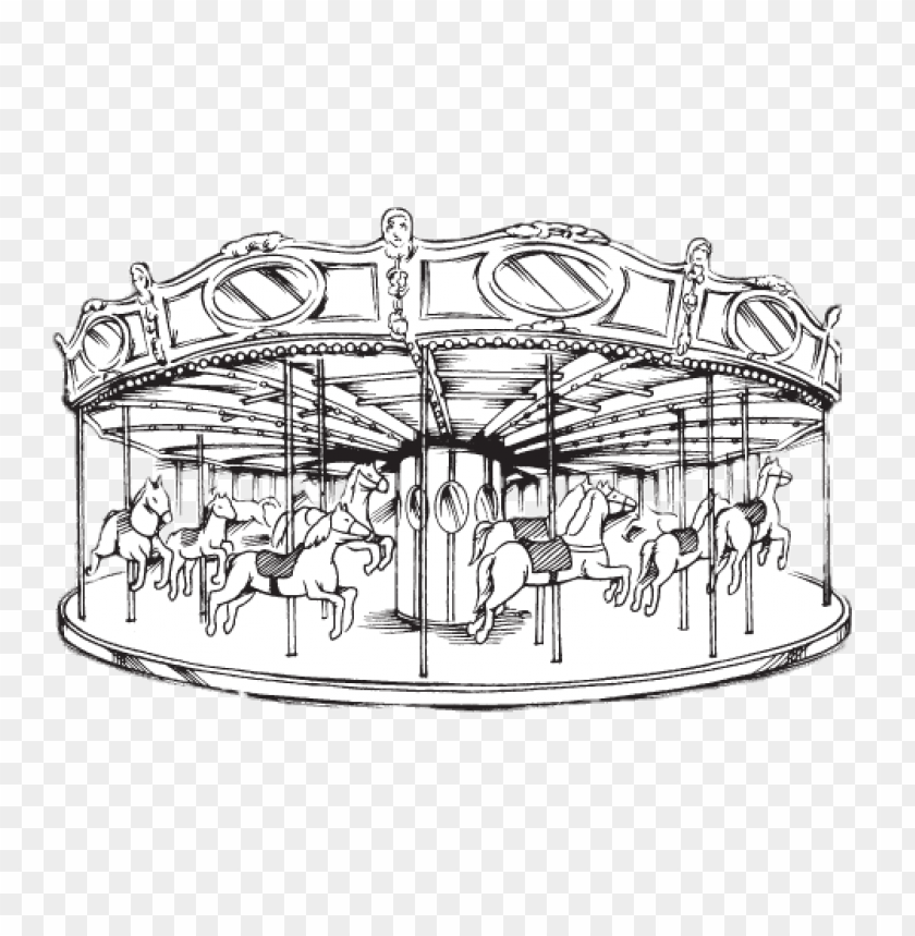 free PNG merry go round black and white drawing PNG image with transparent background PNG images transparent