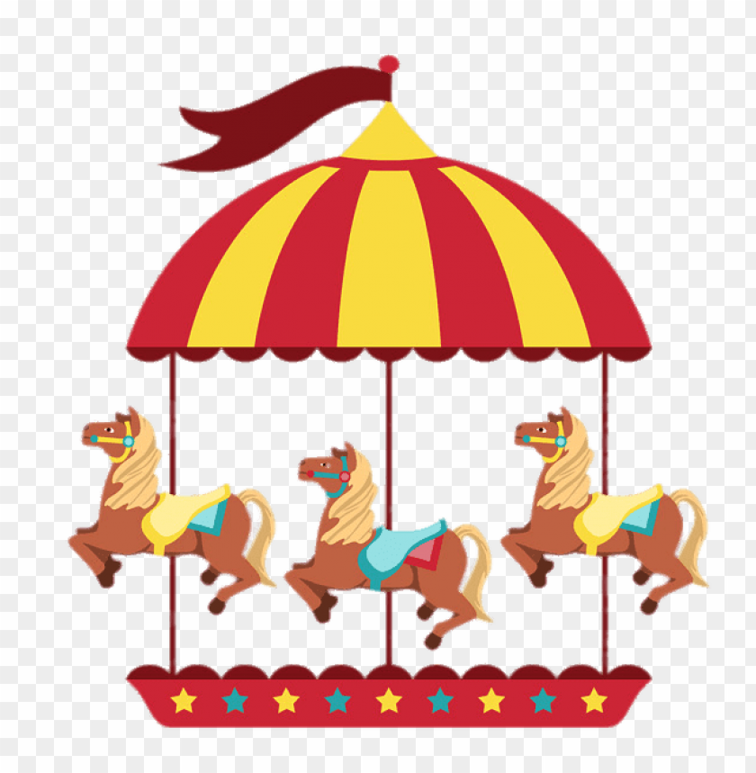 free PNG merry go round with three horses PNG image with transparent background PNG images transparent