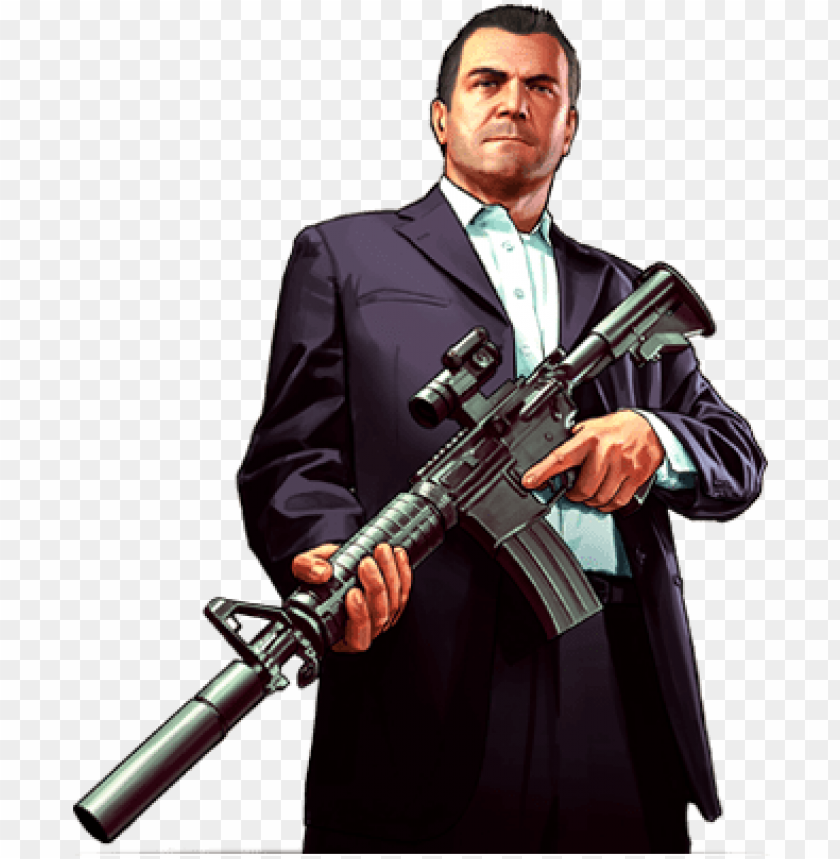 free PNG michael gta 5 png - grand theft auto v - gta 5 game guide: complete walkthrough, PNG image with transparent background PNG images transparent