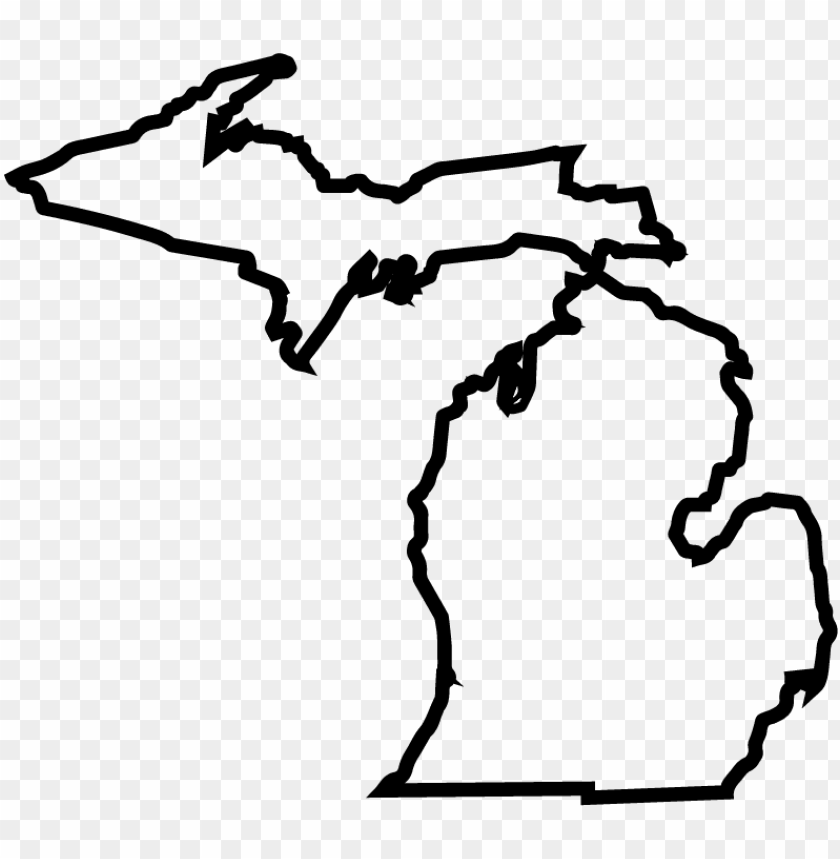 free PNG michiganstateoutline-01 - state of michigan outline tattoo PNG image with transparent background PNG images transparent