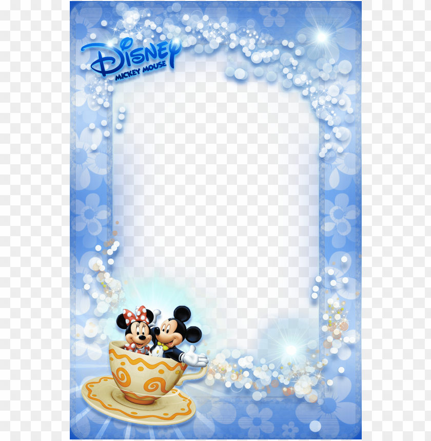 Best Stock Photos Mickey Mouse Blue Kids Photo Frame Background Toppng