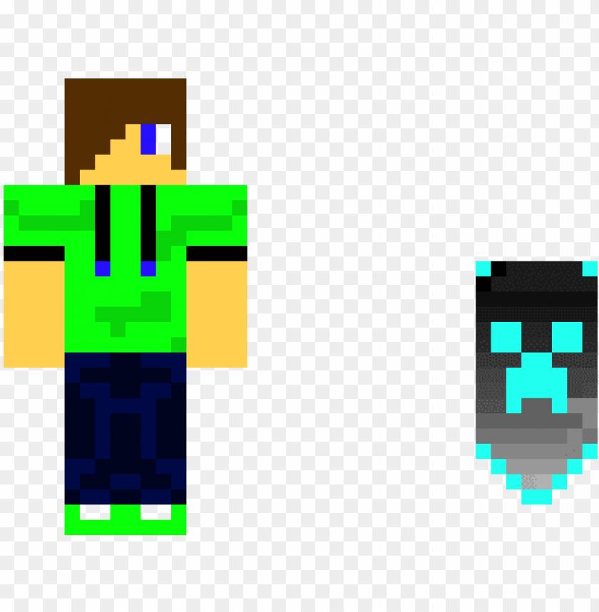 minecraft skin and cape - skins para pixel gun 3d PNG image