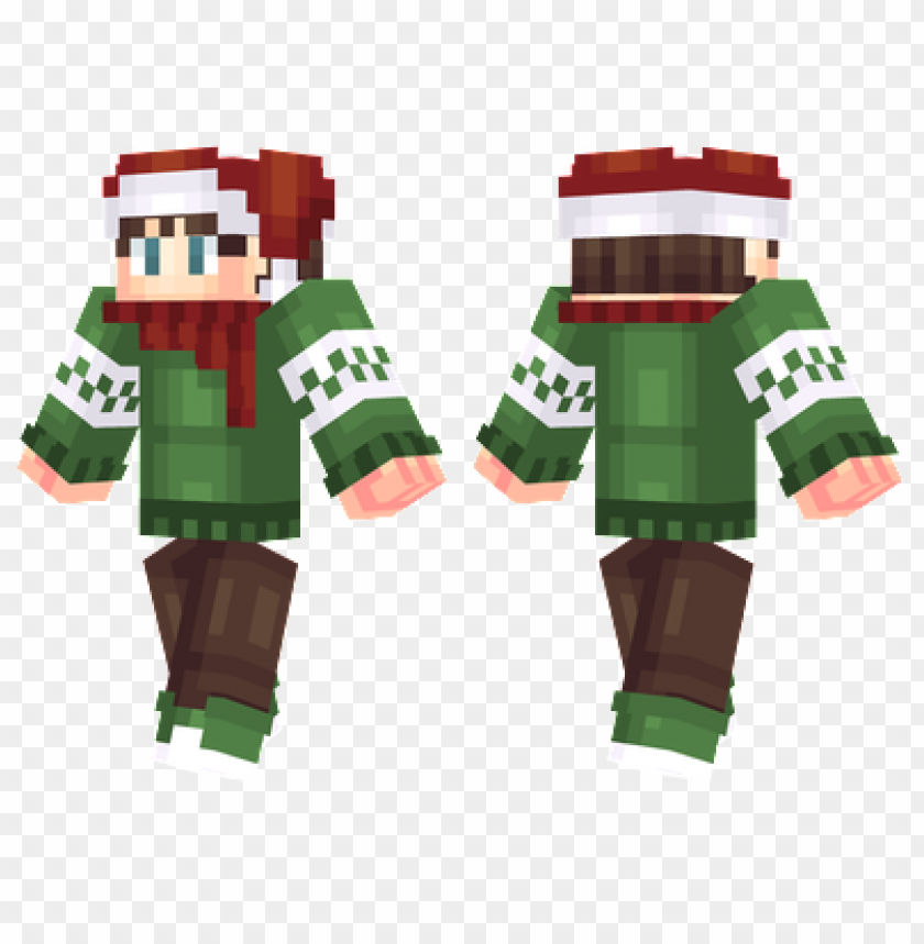 Christmas Minecraft Skin Girl.Minecraft Skins Christmas Sweater Skin Png Image With