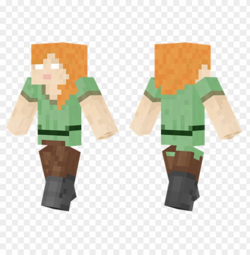 Minecraft Skins Herobrine Alex Skin Png Image With Transparent