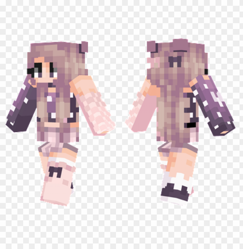 Minecraft Skins Night Girl Skin Png Image With Transparent