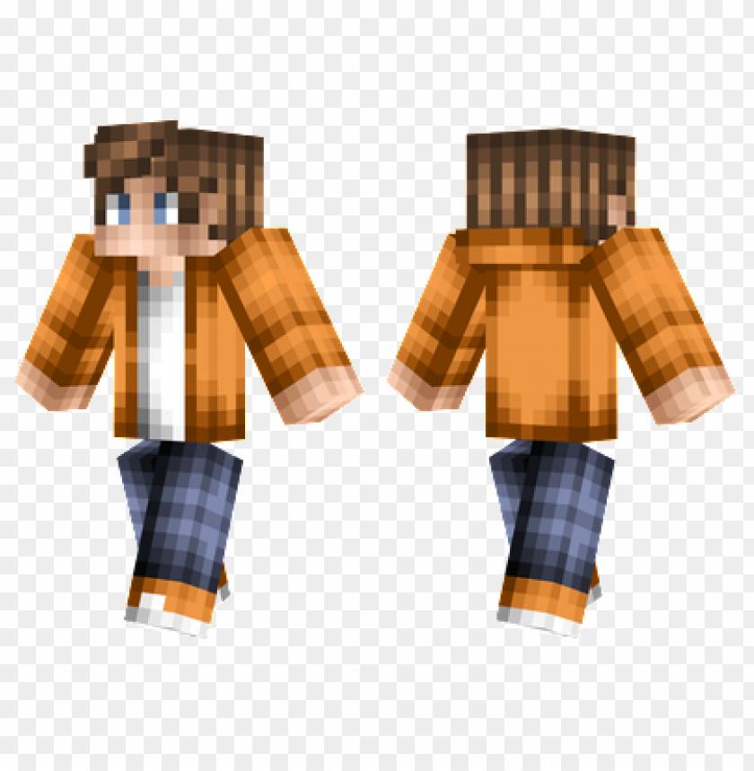 Christmas Minecraft Skin Girl.Minecraft Skins Orange Boy Skin Png Image With Transparent