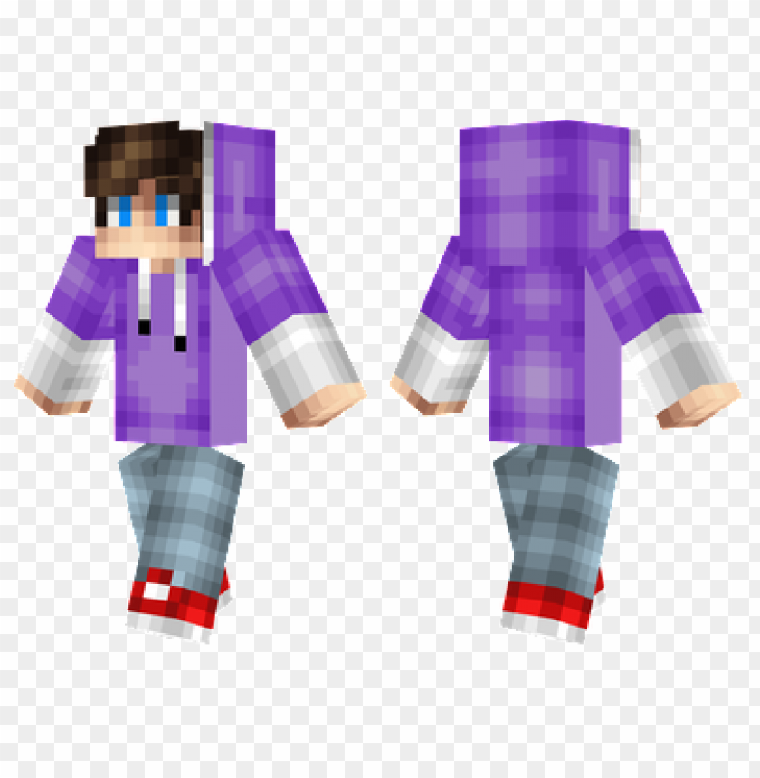 Minecraft Skins Purple Hoodie Skin Png Image With Transparent Background Toppng