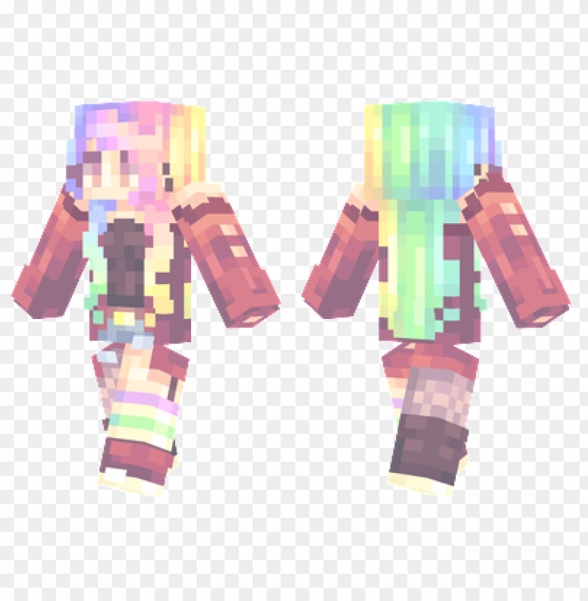 Minecraft Skins Rainbow Skin Png Image With Transparent