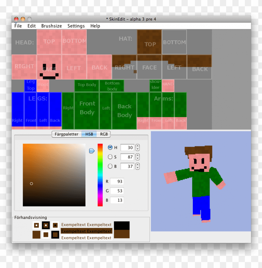 minecraft skins resource and download - minecraft skin template PNG