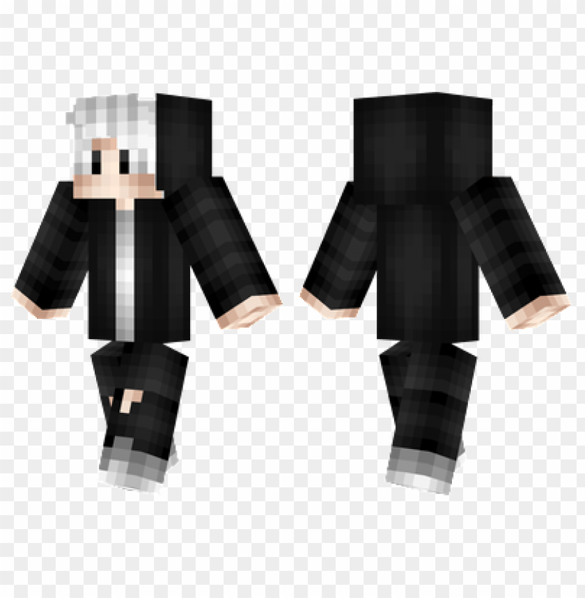 Minecraft Skins Silver Hair Skin Png Image With Transparent