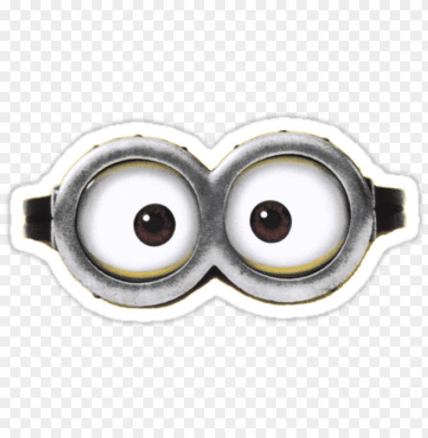 photo about Printable Minion Face referred to as minion eyes printable PNG impression with clear history