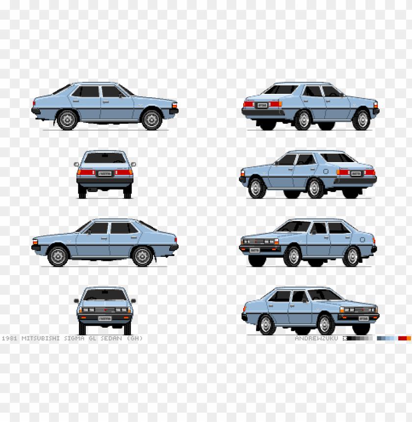 Mitsubishi Sigma Pixel Car 2d Car Pixel Art Png Image With