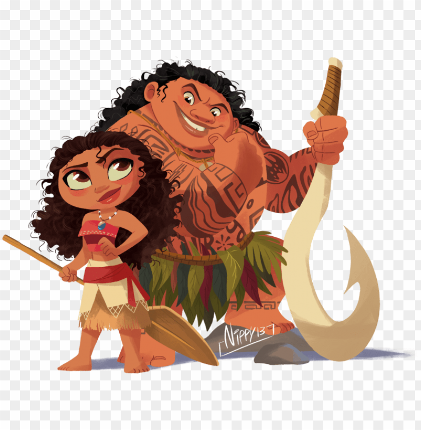 Moana Transparent Cute Moana And Maui Chibi Png Image With Transparent Background Toppng