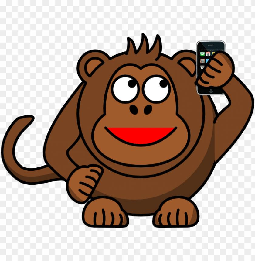 Monkey Mother Iphone Clip Art Cartoon Monkey Png Vector
