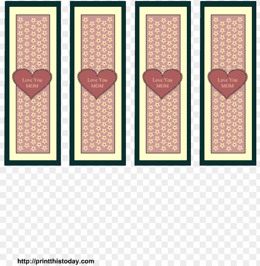 photograph regarding Mother's Day Bookmarks Printable Free known as moms working day bookmarks free of charge printable template - motif PNG