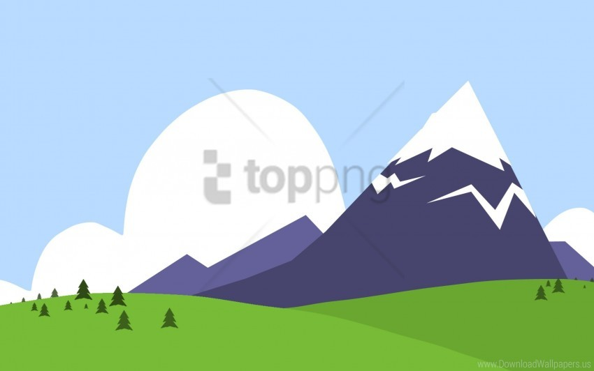 Mountains Nature Paint Vector Wallpaper Background Best Stock