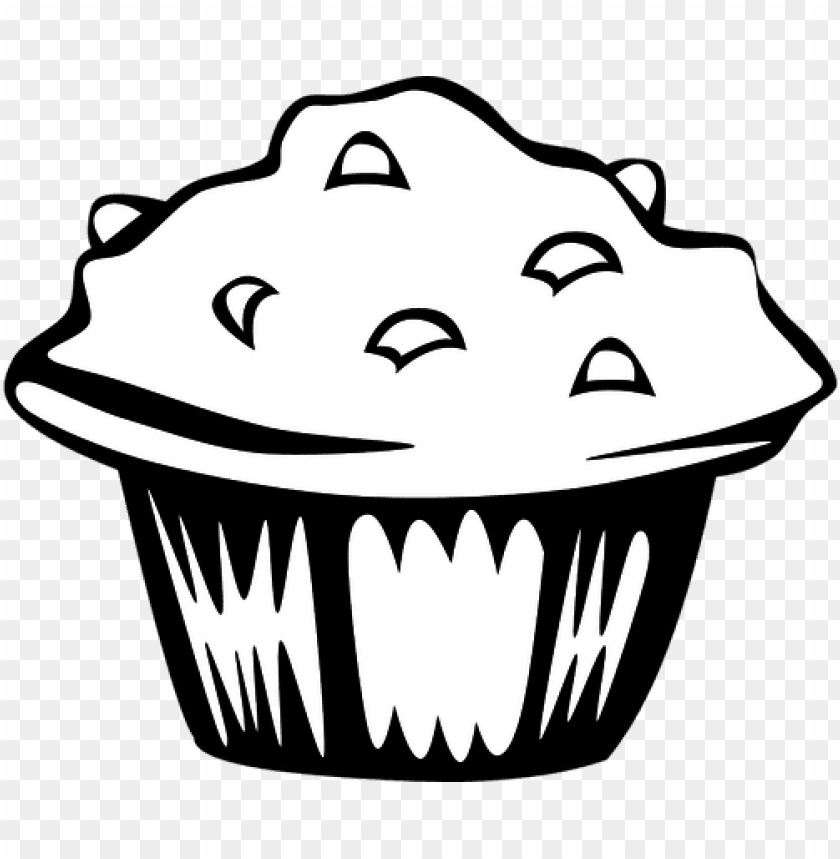 free PNG muffin fast food bakery dessert bread snac - black and white muffin PNG image with transparent background PNG images transparent
