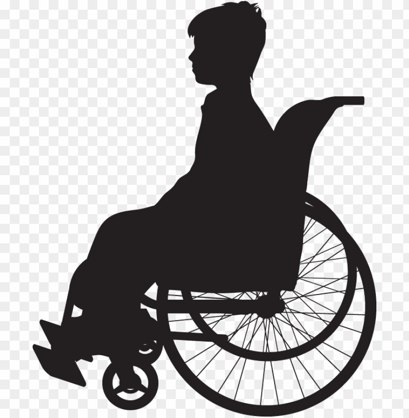 free PNG muscular dystrophy is a group of diseases that cause - girl in wheelchair silhouette PNG image with transparent background PNG images transparent