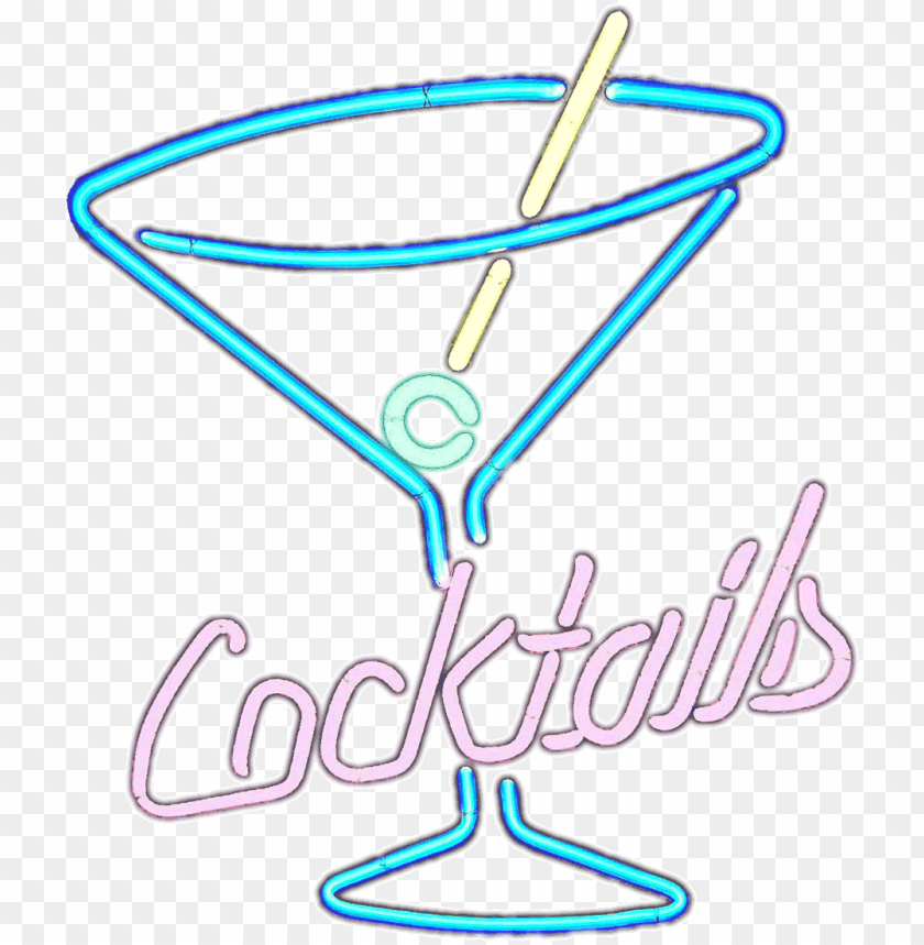 free PNG neon cocktails sign PNG image with transparent background PNG images transparent