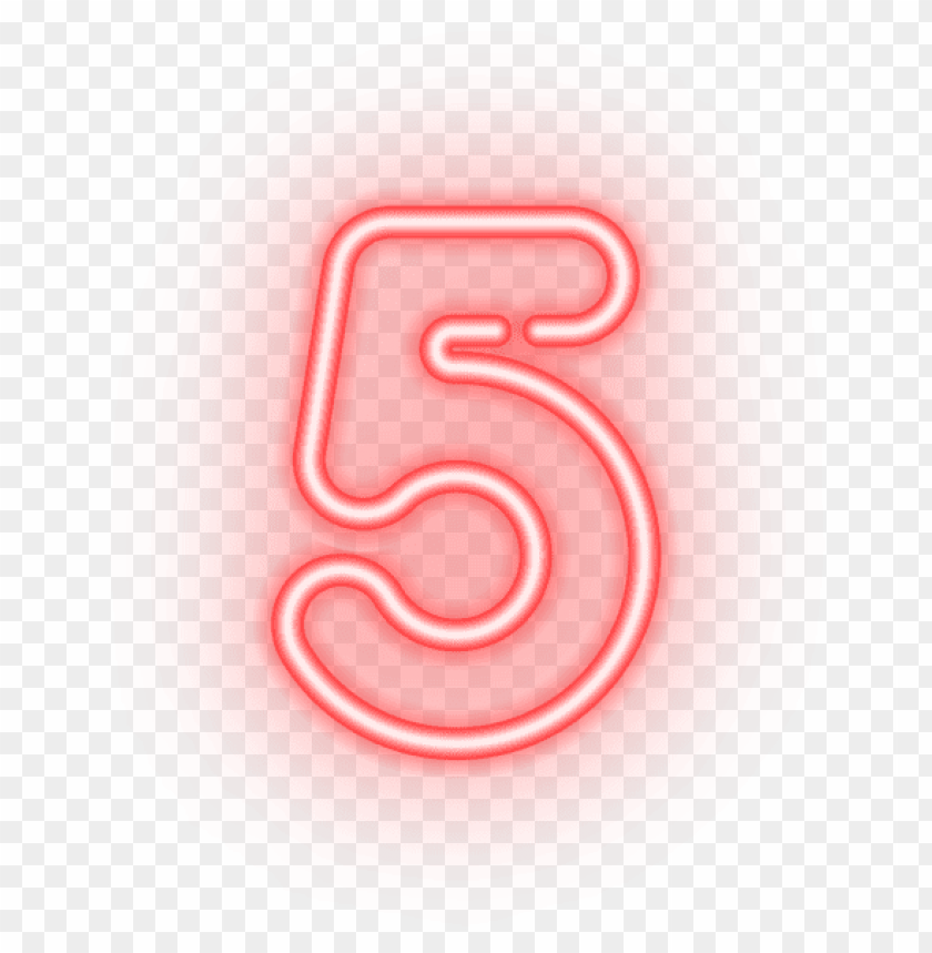 Download number five neon clipart png photo | TOPpng