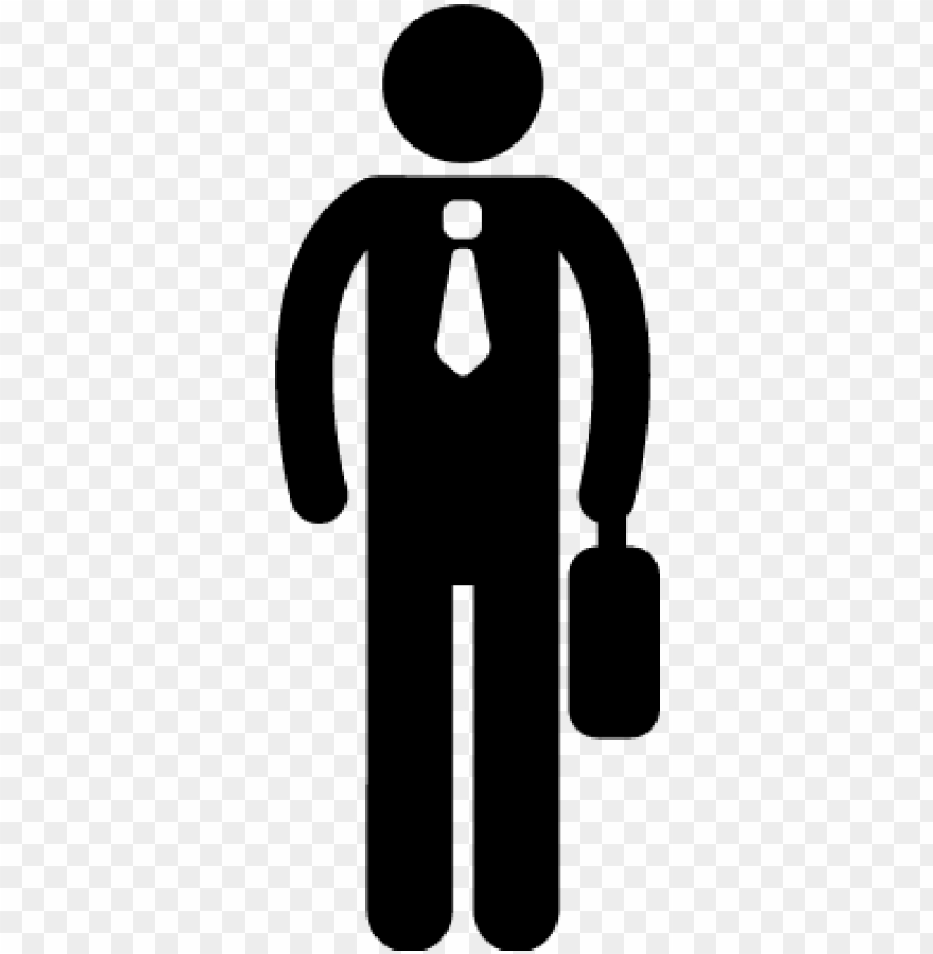 office worker silhouette vector - office worker icon PNG