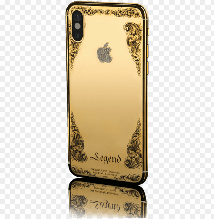 Old Plated Iphone X 24k Gold Iphone X Png Image With