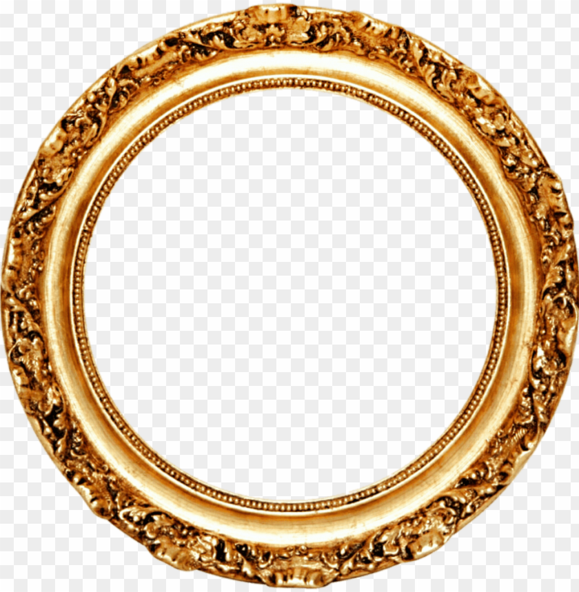 free PNG olden round frame png transparent1 - gold circle frame PNG image with transparent background PNG images transparent