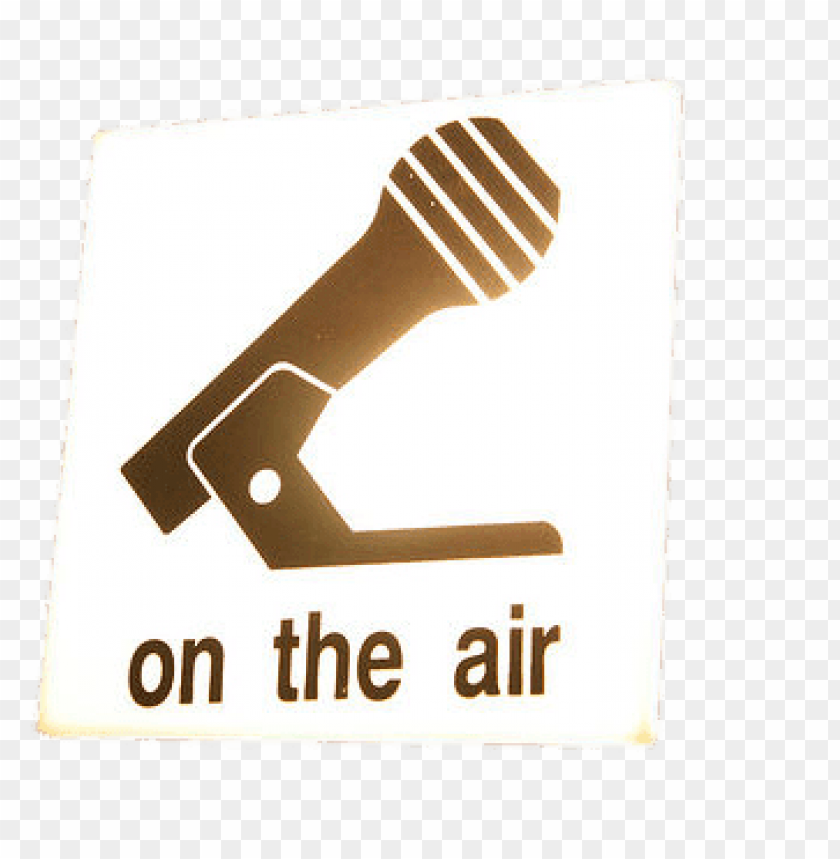 free PNG on the air microphone sign PNG image with transparent background PNG images transparent