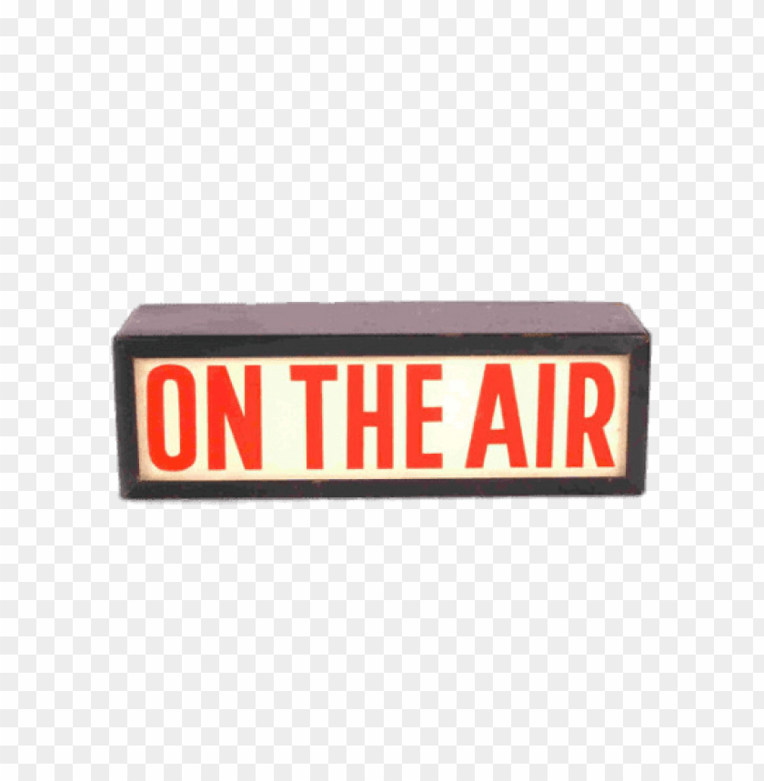 free PNG on the air sign PNG image with transparent background PNG images transparent