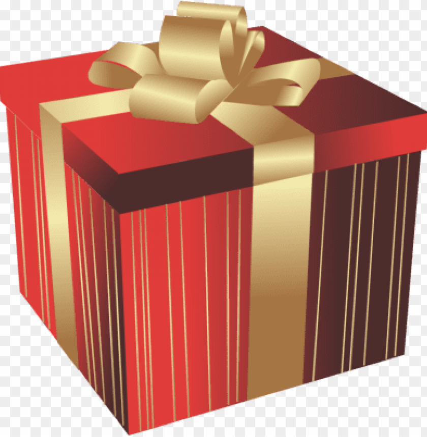 Open Christmas Gift Png Big Red Gift Box With Golden Big Gift Box
