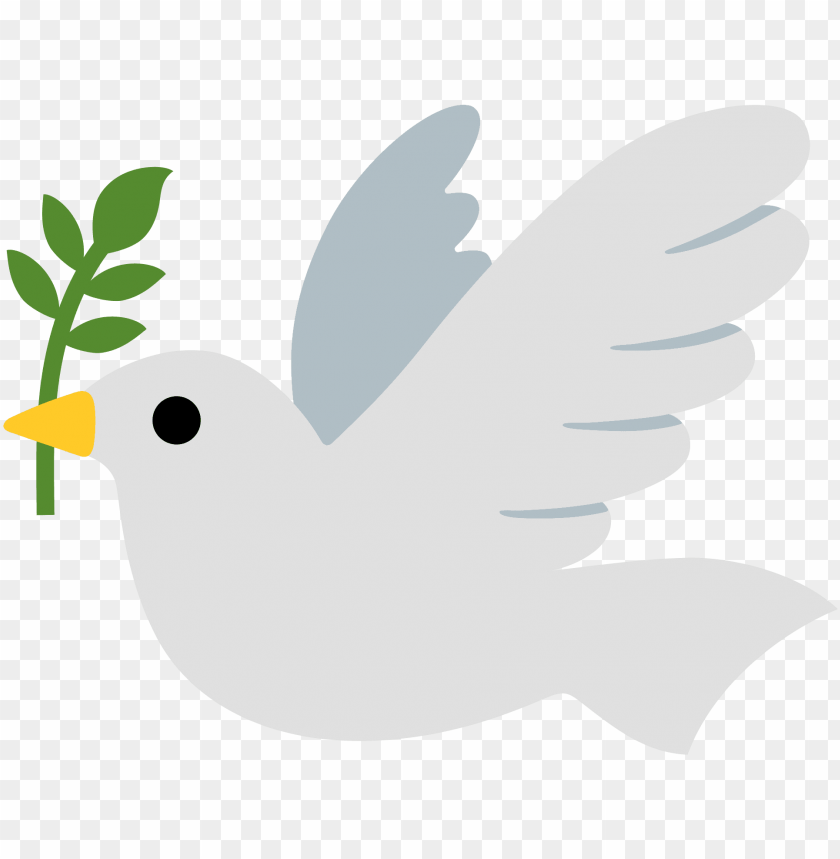 open - dove of peace emoji PNG image with transparent