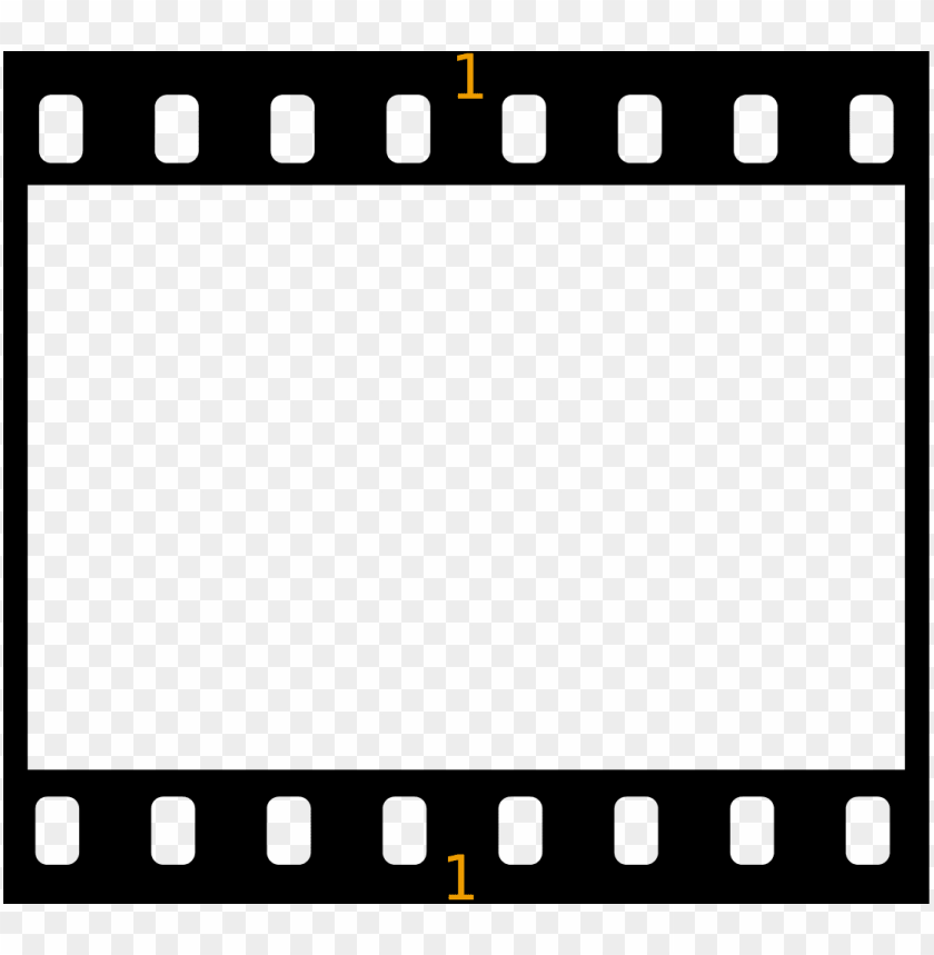 open - kodak film border PNG image with transparent