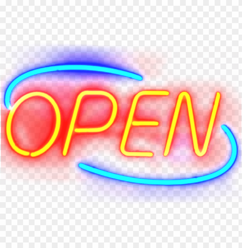 free PNG open neon sign PNG image with transparent background PNG images transparent