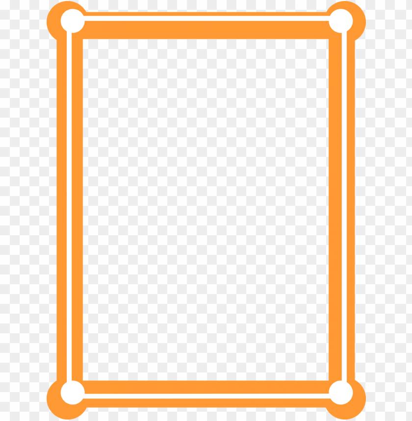 Orange Border Frame Png Free Png Images Toppng