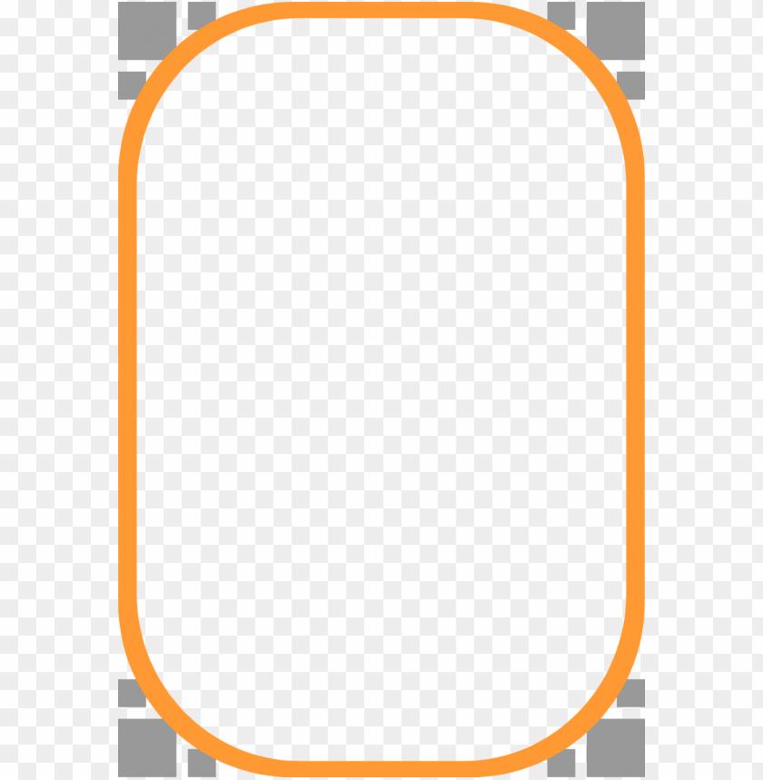 orange border frame png - Free PNG Images | TOPpng