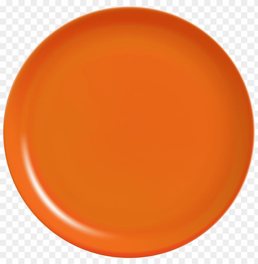 free PNG orange plate PNG images transparent