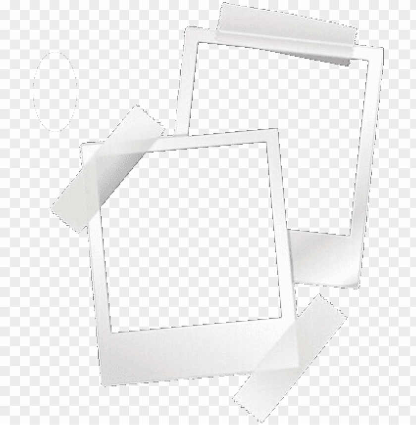 overlay, png, and edit image - polaroid overlays with tape