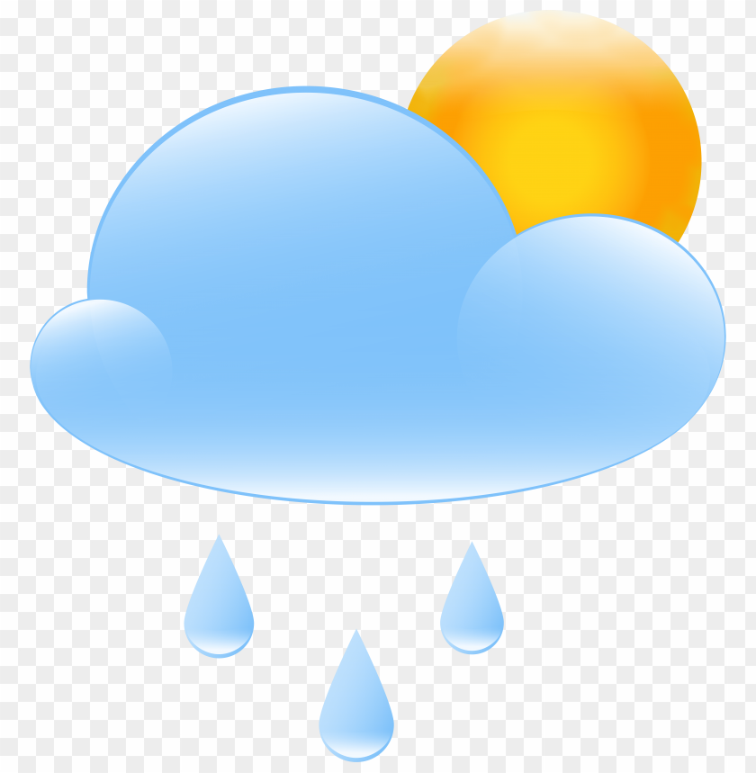 free PNG partly cloudy with sun and rain weather icon PNG images transparent