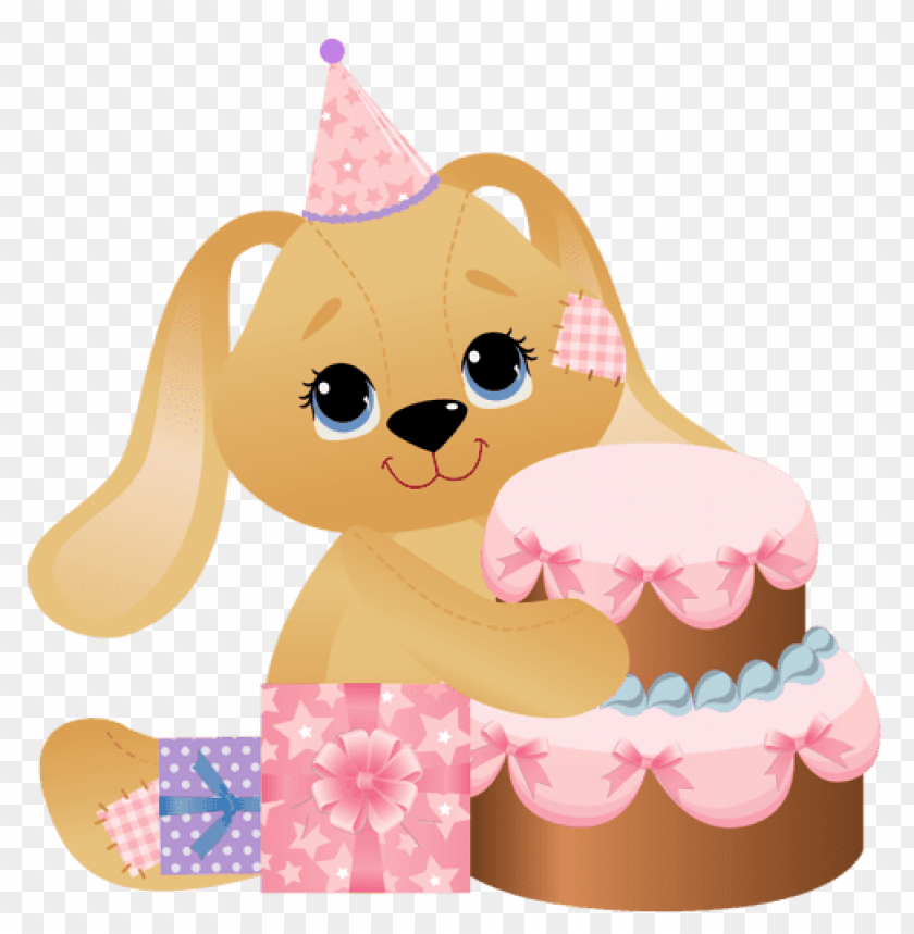 Download Pink Birthday Bunny Png Images Background Toppng