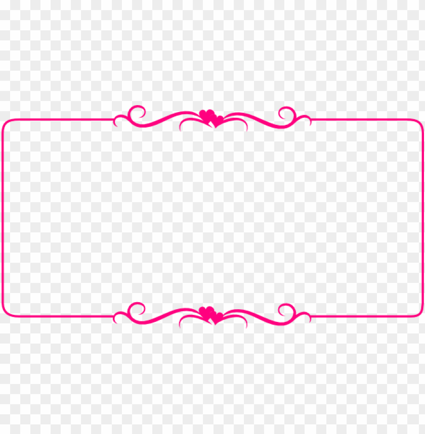 pink border frame png - Free PNG Images | TOPpng