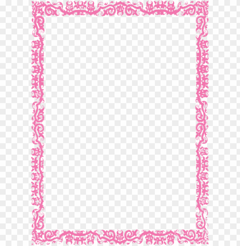 pink border frame png free png images toppng