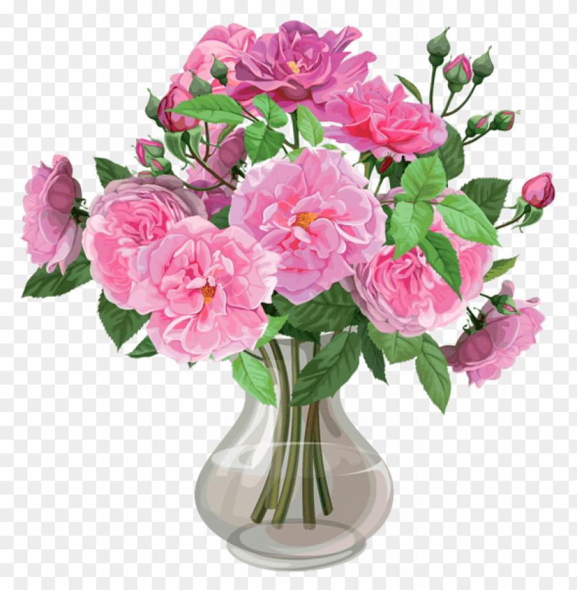 download pink roses in vase transparent png images background toppng. Black Bedroom Furniture Sets. Home Design Ideas