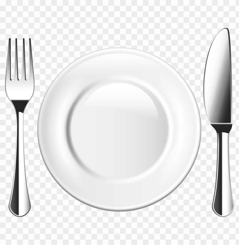 free PNG plate knife and fork PNG images transparent