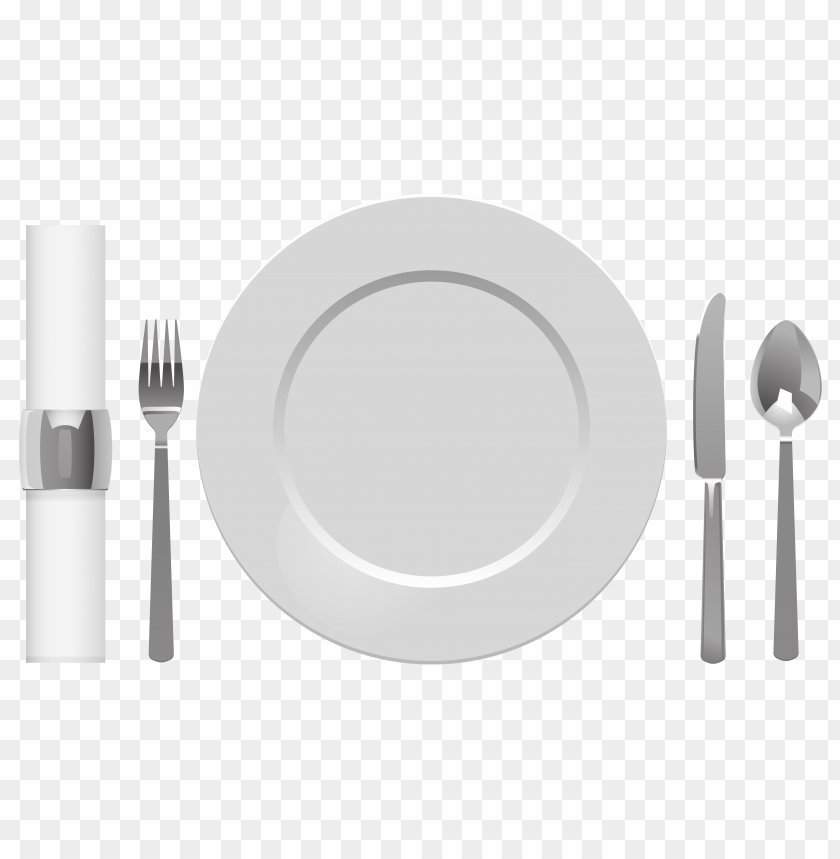 free png plate spoon table knife fork and napkin PNG images transparent