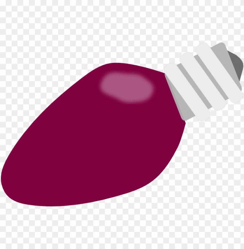 Christmas Bulb Png.Purple Christmas Light Bulb Png Image With Transparent