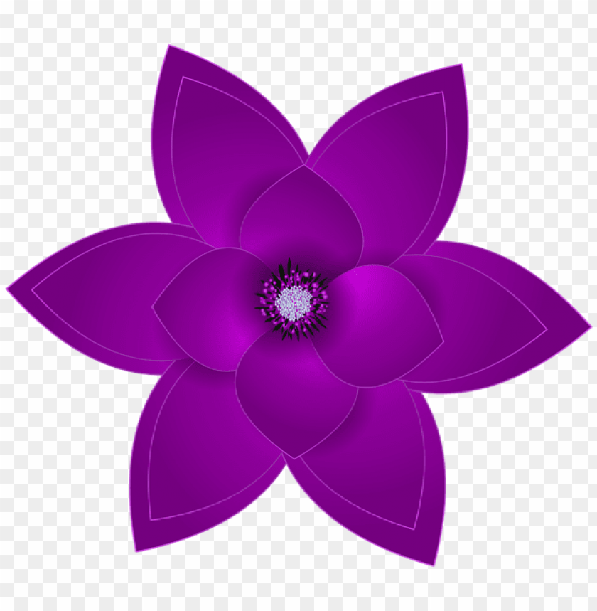 free PNG Download purple deco flower transparent clipart png photo   PNG images transparent
