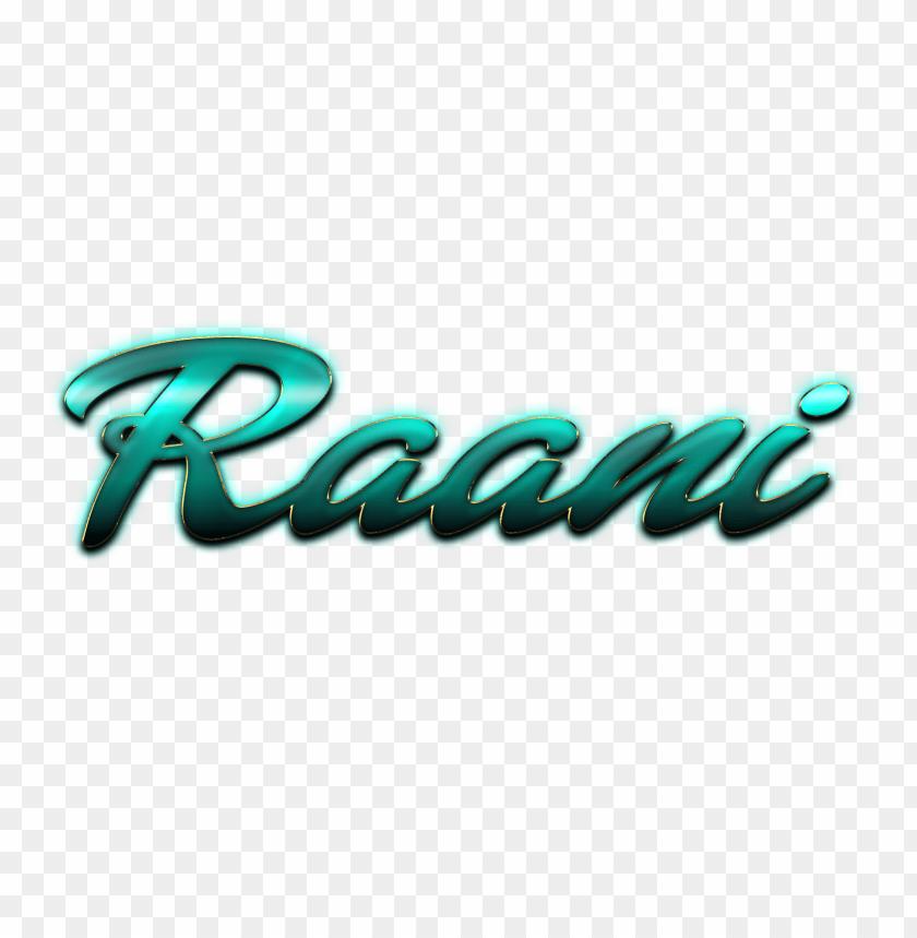 free png raani decorative name png PNG images transparent