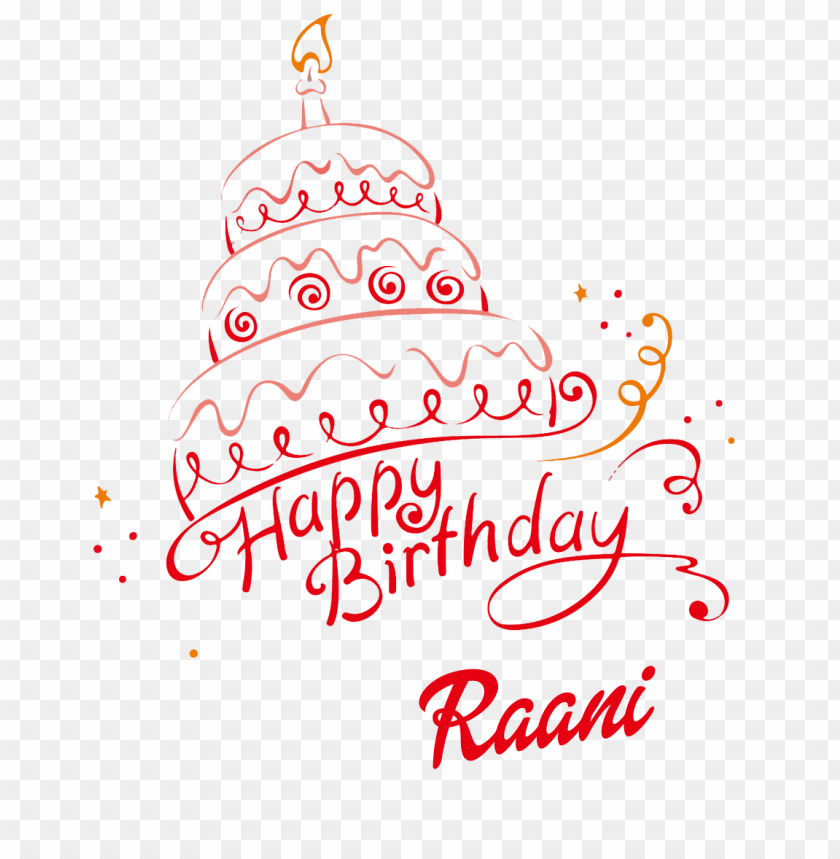 free PNG raani happy birthday name png PNG images transparent